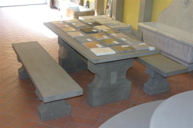 A. Nannini - Fiesole - Arredi per esterni in pietra: Tavolo in ...